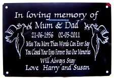 "PERSONALISED BENCH MEMORIAL PLAQUE GRAVE MARKER SIGN ENGRAVED LARGE 6"" X 4"""