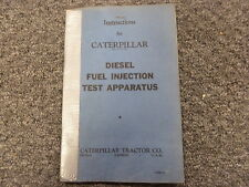 Caterpillar fuel injection ebay caterpillar cat diesel fuel injection test apparatus service instruction manual publicscrutiny Image collections