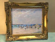 Donald Fraser Beach Scene Acrylic Painting