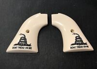 Heritage Rough Rider Classic Panel Grips Bonded Ivory Don't Tread On Me