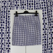 TOPSHOP Embroidered Checked Pure Cotton Casual Mini Skirt Size UK 8 Tall