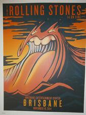 Rolling Stones 2014 lithograph poster  - 14 on FireTour LITHO Brisbane australia