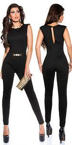 Sexy  Overall mit Goldschnalle Jumpsuit Catsuits  ! Größe L 40 Neu schwarz