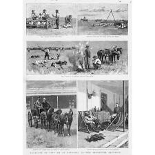 ARGENTINA Scenes of Life on an Estancia - Antique Print 1891