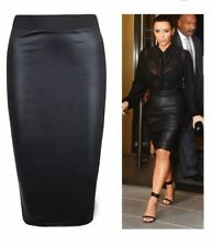 Faux Leather Straight, Pencil Skirts for Women