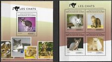 "GUINEE - 2014 MNH ""Nature - CATS"" Two Souvenir Sheets !!"