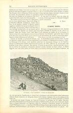 Caucase Koubatchi & Kazi-Koumoukh Orfevrerie de Russie GRAVURE  OLD PRINT 1890