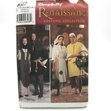 Simplicity 8587 Misses Mens Teen Costume Renaissance Peasant Xs Xl Uncut Pattern