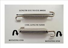 2 x  Steel Exhaust Springs 80mm For Expansion Pipes Or Manifold Link