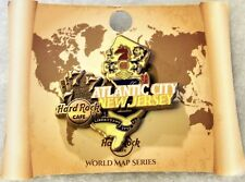 HARD ROCK CAFE ATLANTIC CITY 2017 LIMITED EDITION 3D WORLD MAP SERIES PIN #95515