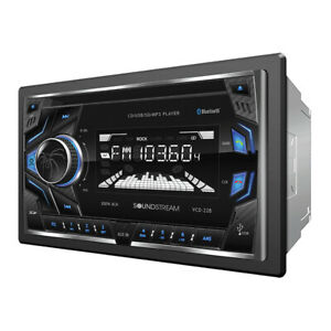 Soundstream Double Din VCD-22B CD/MP3/WMA Player Bluetooth Front AUX USB Input