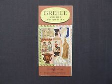 Reiseprospekt Hellas and her Antiquituies, Greece, Athen 1956, english