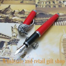 Fuliwen Fountain Pen good quality Red and American Bald Eagle Head Clip Ink Pen