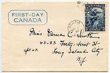 CANADA 1934 FIRST DAY COVER 3c REGINA SASKATCHEWAN