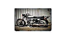 1975 cz 175 Bike Motorcycle A4 Retro Metal Sign Aluminium
