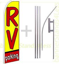 Rv Parking Swooper Flag Kit Feather Flutter Banner Sign 15' Tall - q