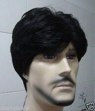 UKJF190  vogue fashion men's short black straight hair wig  wigs for women