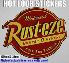 RUST EZE REAR END FORMULA Decal Sticker Novelty Cars Truck Hot Rod Race GoKart