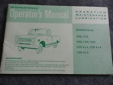 1970 International Truck Owners Manual 1010 1110 1210 1310 1510 4x4