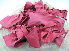 Lederreste Bekleidungsleder 1 kg Ökoleder Ziegen Velours Leder pink