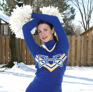Ms. Angelique Kithos RACER BACK CHEER Uniform TOP ONLY CHEERLEADER Sports MODEL