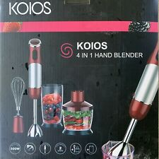 Koios 800W 4-in-1 Multifunctional Hand Immersion Blender, 12 Speed, 304 (Red)