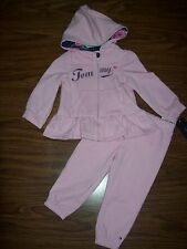 Girls TOMMY HILFIGER HOODED JACKET PANTS OUTFIT SZ 12 MONTHS NEW NWT MSRP $44.50