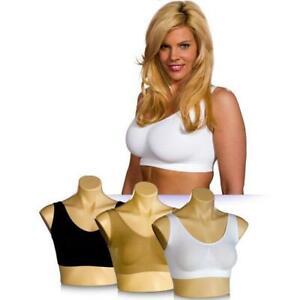 Damen Sport BH Comfort Microfaser Bustier Nahtlos Bra Seamless Komfort Bügellos