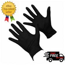 100 Black Nitrile Powder Free Medical Tattoo Mechanic Rubber Gloves Extra Large