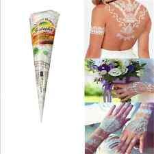 White Natural Herbal Temporary Tattoo Kit Henna Cones Body Art Paint Mehandi Ink