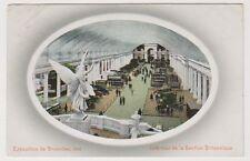 Bruxelles Exhibition 1910 postcard - Interieure de la Section Britannique - P/U