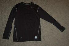 Nike Pro Combat Men Dri Fit Long Sleeve Compression Shirt Sz Large Black