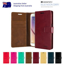 Samsung S8/Plus S7/Edge S6 S5 Note 5/4/3 Mercury Leather Card Wallet Case Cover