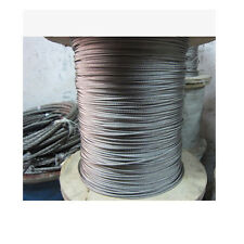 """1/16"""" 7x7 316 Stainless Steel Cable Wire Rope- 100feet"""