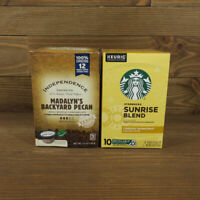 2 CT Coffee K-Cups Variety Madalyn's Backyard Pecan & Starbucks Sunrise Blend