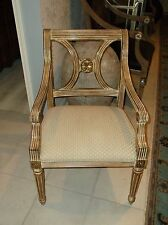 Awesome Thomasville White Washed Regency Style Arm Chair (2 Available)