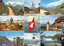 B67823 Switzerland autobus telepherique cable train multiviews