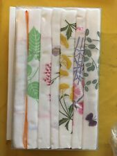 Lot of 7 Womens Hankerchiefs Hankies Assorted White & Floral Euc