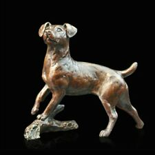 Small Jack Russell Solid Bronze Foundry Cast Sculpture by Michael Simpson (980)