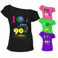 I Love The 90s Top Ladies T Shirt Pop Retro 90's Times Vintage Music Dress Lot