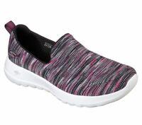 Skechers shoes Black Pink Go Walk Joy Women Slip On Comfort Casual Sporty 15615