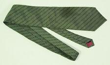 Nautica Charcoal Gray Geometric Pattern Silk Tie