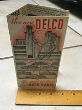 1934 1935 1936 DELCO Auto Car Radio Head Brochure Chevy Buick Chrysler & OTHERS