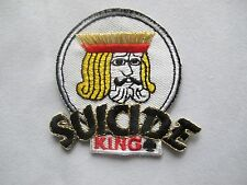 #3630 KING of SUICIDE Poker Card Hand Iron On Applique Patch