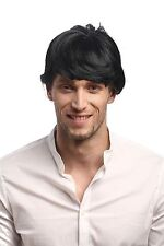 Perruque Homme Carnaval Halloween Perruque Masculine Court Noir Pony
