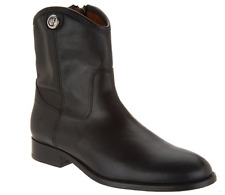 Frye Leather Side Zip Ankle Boots - Melissa Button Short 2 Black Size 5.5 NEW