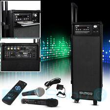 Karaoké Fête Système de son 2x Microphone USB SD Bluetooth télécommande radio
