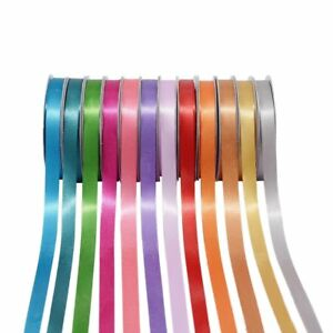 23-92 Metres Roll Full Reel Premium Sided Satin Ribbon Gift 6,10,15,25 & 38mm