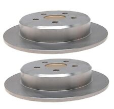 Pair Set of 2 Rear Solid 269mm Disc Brake Rotors ACDelco For Dodge Neon Stratus