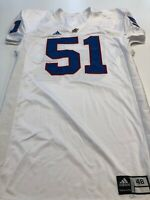 Game Worn Used Kansas Jayhawks KU Football Jersey Adidas Size 48 #51
